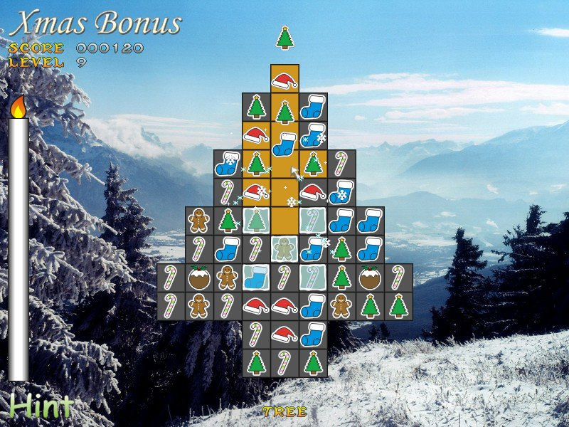 Puzzle, Holiday, Christmas, Xmas, Bonus, Santa, Match-3, match, three, bejewelle